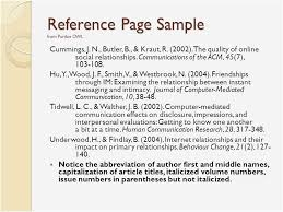 Owl Purdue Apa 6th Edition Apa Reference Page Example Purdue Owl