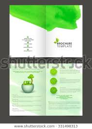 Two Page Brochure Template Nature Two Page Brochure Flyer Template Stock Vector Royalty Free
