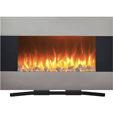 wall mount electric fireplaces. Stainless Steel Electric Fireplace With Wall Mount And Floor Stand Remote, 36 Inch By Northwest - Walmart.com Fireplaces A