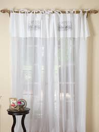 tie top white voile curtains curtain designs