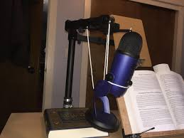 my diy shock mount and boom arm monitor stand string cable ties i read my school textbooks for my classmates and story books for my children