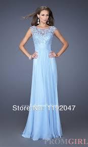 Colors To Wear With Light Blue Elegant Light Blue Color Lace Appliques Floor Length Long