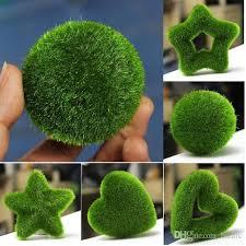 Decorative Moss Balls 100 100 Patterns Diy Artificial Moss Ball Star Heart Potted 55