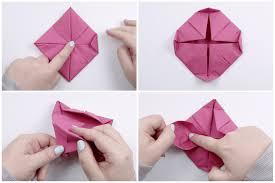 Paper Napkin Folding Flower How To Make An Origami Napkin Lotus