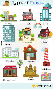 different types of houses different types of houses 7 e s l