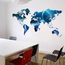 office world map. World Map Removable Vinyl Wall Sticker Home Office Art Decal