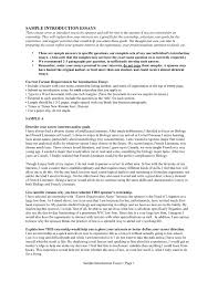 Sample Essay About Myself Introduction Cover Letter Format And