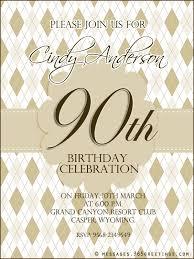 90th birthday party invitation wording