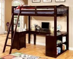 wood bunk bed with desk. Amazing Dutton Collection Dark Walnut Finish Wood Twin Bunk Bed With Desk Under