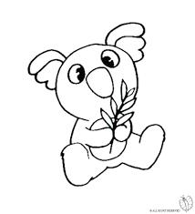 Disegno Di Koala Da Colorare Per Bambini Com Con Immagini Facili Da