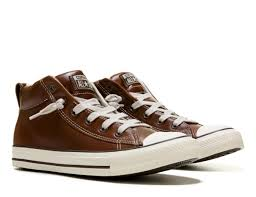 men converse chuck taylor all star street mid top leather sneaker brown converse shoes uk