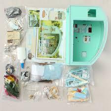 diy miniature dollhouse kit mini 3d wooden doll house furniture led