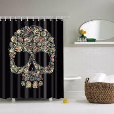 Sugar Skull Bathroom Decor Online Get Cheap Skull Shower Curtain Aliexpresscom Alibaba Group