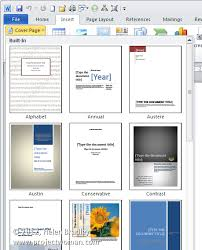 Creative Cover Page Microsoft Word Bornhoeved