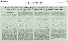 Italia Oggi - 15.10.2021 - La crociata di Mario Giordano contro i ladri di  case - Confedilizia