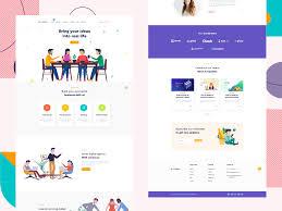 Latest Website Design Ideas Creabox Saas Website Design By Adobe Xd By Gumbum On Dribbble