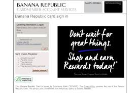 Banana Republic Credit Card Login Credit Card