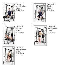 Md 9010g Exercise Chart Leg Workouts Smith Machine Leg Workouts