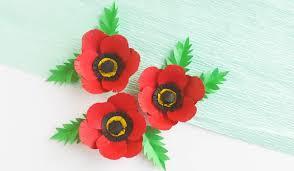 Make A Paper Poppy Flower Paper Poppy Craft Sugar Spice And Glitter