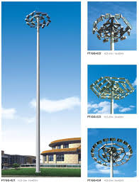 High Mast Lighting Manufacturers Hot Item 30 Meter Tower Monopole High Mast Lighting Pole