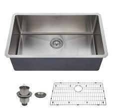 zuhne 32 inch undermount deep single bowl 16 gauge stainless steel kitchen sink