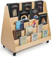 Wooden Book Stand For Display Kid's Book Stand Double Sided 41