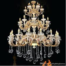 crystal and gold chandelier antler extra large chandeliers hotel hall candle living room retro ban