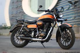 vardenchi launches diy customization kits for royal enfields monza matte black orange