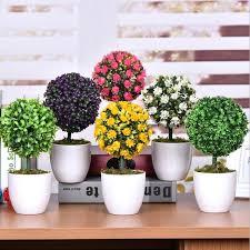 office decorative. Plants For Office Desk Decorative Green Artificial Flowers Bonsai Cheap  Creative Rose Ornaments Wedding T39