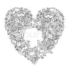 Small Picture Heart Shaped Mandalas Coloring Coloring Pages