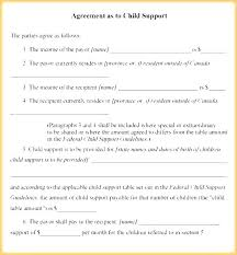 Child Support Agreement Template Contract Software