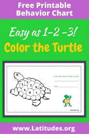 Color Behavior Chart Printable Free Coloring Behavior Chart Turtles Shell Acn Latitudes