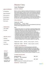 Auto Mechanic Resume Sample Sample Resume Letters Job Application