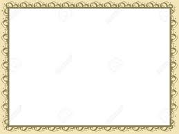 Yellow Vector Certificate Background Illustration Stock Photo