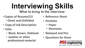 36 Interviewing Skills What to bring ...