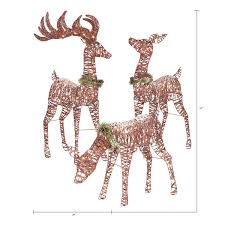 Holiday Time Light Up Outdoor 3 Piece Reindeer Family