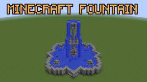 Minecraft Water Fountain Designs Minecraft Fountain Tutorial