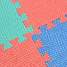 9pcs set soft square puzzle interlocking foam gym floor mats tile