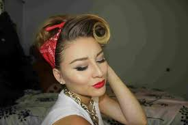 easy 50s hairstyles with bandana pinup and makeup tutorial yourhyou pinup easy 50s hairstyles with