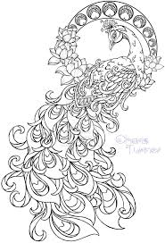 Small Picture Realistic peacock coloring pages free coloring page printable