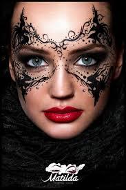 via make up magazine romania makeup mask masquerade mua art