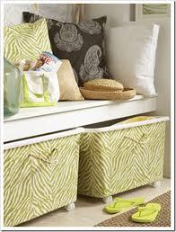 Decorative Fabric Storage Boxes Lots of Fabric Storage Ideas Organize It EverythingEtsy 23