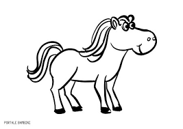 Immagini Da Disegnare Per Bambini Con Disegni Di Cavalli Da Colorare