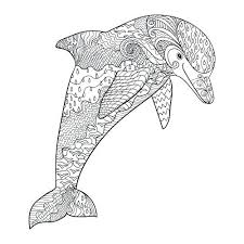 Coloring Dolphins Free Adult Coloring Pages Dolphin Printable
