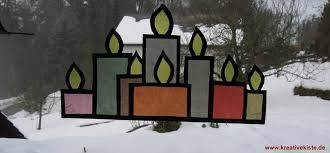 Fensterbild Adventskerzen