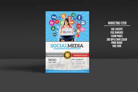 social media marketing flyer flyer templates on creative market social media marketing