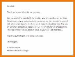Resume Rejection Letter 11 12 Employment Rejection Letter Samples Mysafetgloves Com