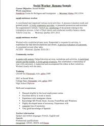 Objective For Social Work Resume Social Worker Resume Sample RESUMEDOC 35