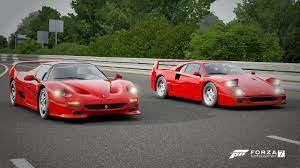 Forza 7 Drag Race Ferrari F40 Vs Ferrari F50 Youtube