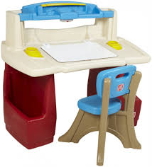 kids desks and chairs light blue wall paint decoration wooden intended for step two desk and